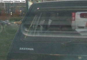 Zastava badging on a Yugo in Belgrade
