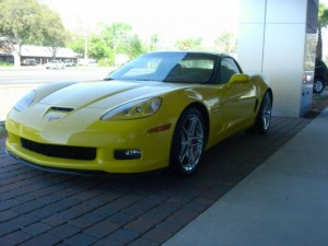 Little brother to the ZR1, the 2009 Z06 Corvette has 550 HP