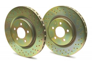 Brembo cross drilled rotors for racing and aggressive street driving