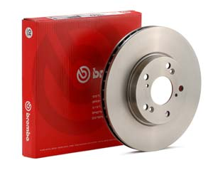 OE Brembo rotors were selected