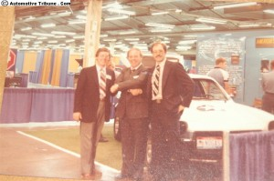 (L to R) R. Kubis, E. Hurd, Dr. R. McElroy.  Mr. Hurd offers his congratulations to American Solar on being the Feature Attraction of the Energy Today Exposition.